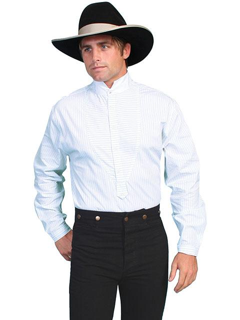 Men's Old West Inset Bib Dress Shirt-RW058 - Blanche's Place