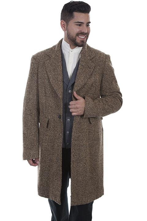 Men's Old West Herringbone Pile Coat-521129 - Blanche's Place