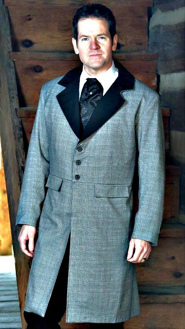 e533c582440 Mens old west frock coats canvas dusters and authentic style sack coat