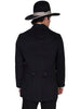 Mens's Vintage Old West, Victorian Steampunk Black Cotton Town Coat