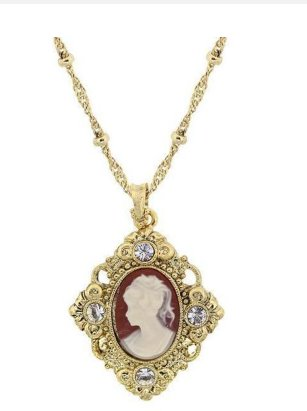 Vintage Inspired Cameo Necklace Downton Abbey Collection-17714 - Blanche's Place