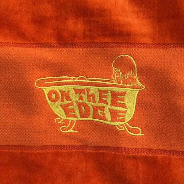 ON THEE EDGE EMBROIDED TOWEL