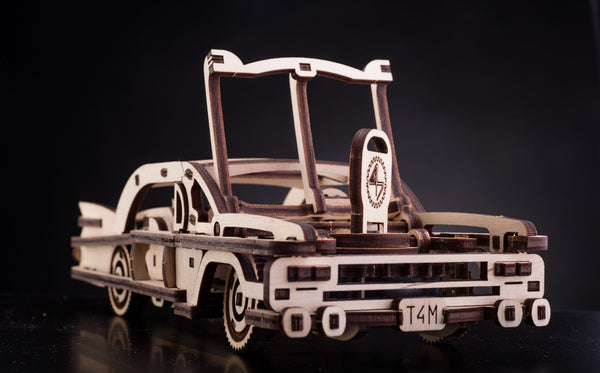 Elvis Car - wooden mechanical model