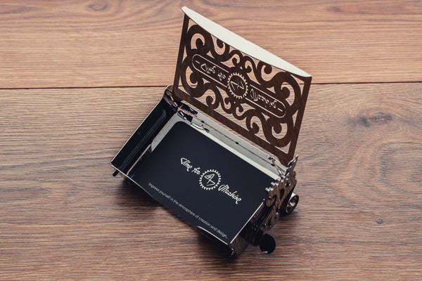Perfecto Card case, metal puzzle, Time 4 Machine, 3d metal puzzle