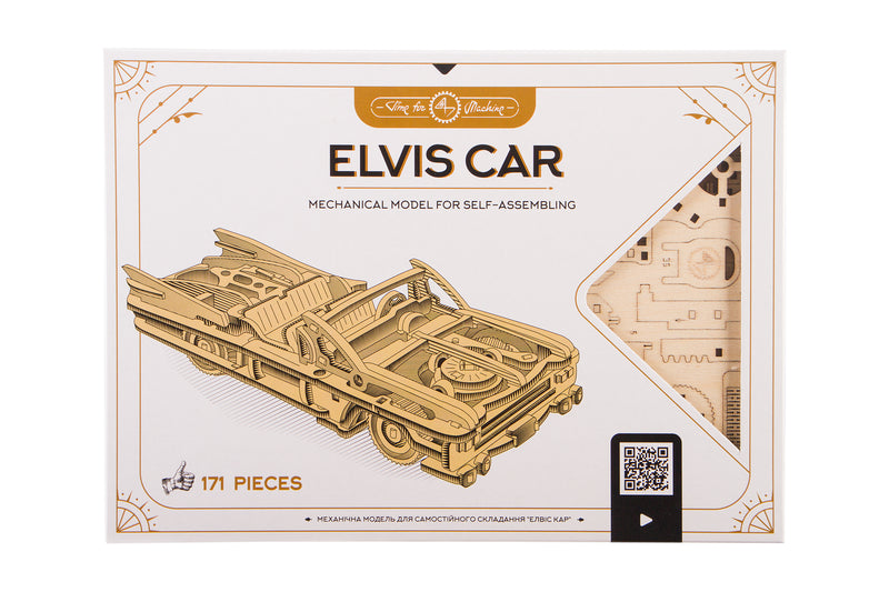 Time 4 Machine - Elvis Car model kit in the package - 3d wooden construction toy