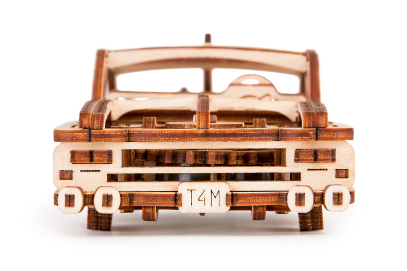 Time 4 Machine - Elvis Car wooden toy - 3d wooden mechanical model to make