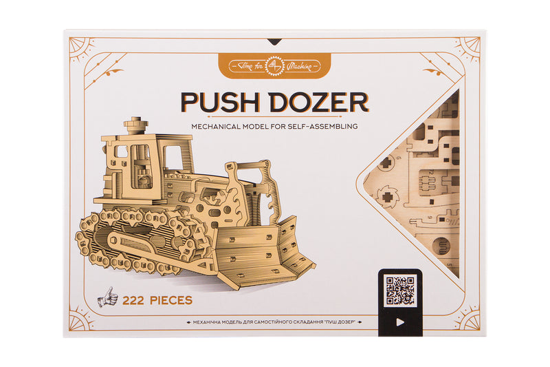 Time 4 Machine - Push Dozer - 3d wooden puzzle - mechanical models to make