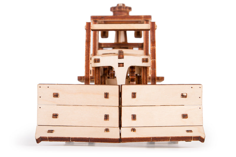 Push Dozer Moving 3d Wooden Mechanical Model By Time For