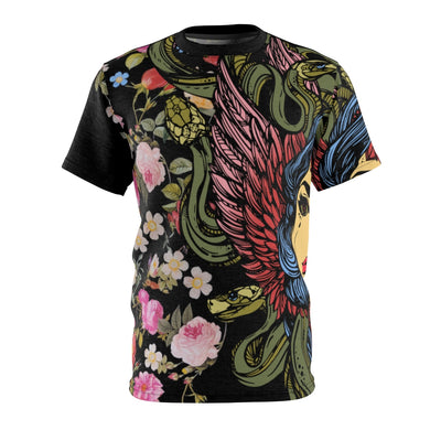 foamposite floral all over print sneaker match shirt floral foamposite shirt floral foam t shirt cut sew medusa tee v4