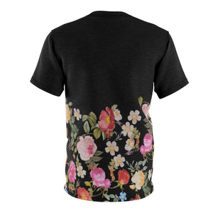 foamposite floral all over print sneaker match shirt floral foamposite shirt floral foam t shirt cut sew medusa tee