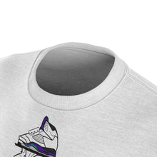 Load image into Gallery viewer, world war kickz jordan 5 grape all over print t shirt by gourmetkickz
