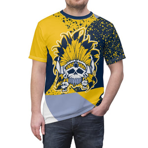 mens jordan 5 michigan yellow amarillo sneaker match colorblock sole chief cut sew t shirt