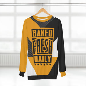polyester blend all over print sweatshirt to match jordan 14 reverse ferrari colorblock baked fresh daily