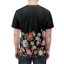 Load image into Gallery viewer, foamposite floral all over print sneaker match shirt floral foamposite shirt floral foam t shirt cut sew medusa tee