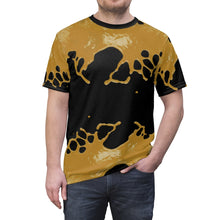 Load image into Gallery viewer, gold foamposite sneakermatch shirt big splat