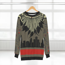 Load image into Gallery viewer, polyester blend all over print sweatshirt to match jordan 6 travis scott cactus jack olive cactus scene feathered v2