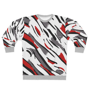 polyester blend all over print sweatshirt to match jordan 8 reflections of a champion midsole print