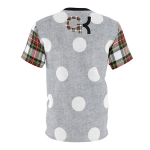 custom kd5 polka dot and plaid sneakermatch t shirt cut sew baked fresh