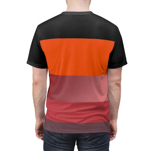 hyper crimson foamposite pro sneaker match colorblock daze cut sew t shirt