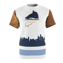Load image into Gallery viewer, jordan 5 bronze t shirt now serving bronze 5 s over the chi