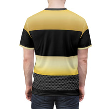 Load image into Gallery viewer, gold foamposite sneakermatch tshirt color block cut sew