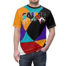 Load image into Gallery viewer, jordan 9 dream it do it sneaker match colorblock sauce cut sew t shirt