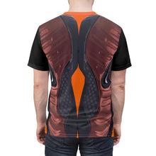 Load image into Gallery viewer, hyper crimson foamposite pro sneaker match t shirt cut sew macroprint