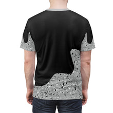 Load image into Gallery viewer, custom jordan 10 cement drip too hard cut sew t shirt