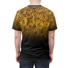 Load image into Gallery viewer, gold foamposite sneakermatch tshirt rose fade cut sew