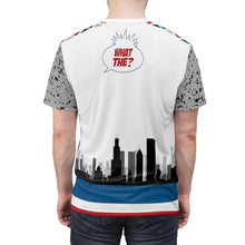 Load image into Gallery viewer, shirt to match jordan 4 retro what the skyline and cement throwback style by chef