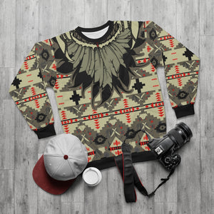 polyester blend all over print sweatshirt to match jordan 6 travis scott cactus jack olive beacon feathered v1