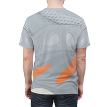 Load image into Gallery viewer, yeezy boost 700 inertia all over print sneaker match t shirt yeezy boost inertia shirt yeezy 700 inertia t shirt cut sew contours v1