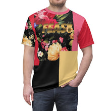 Load image into Gallery viewer, foamposite floral all over print sneaker match shirt floral foamposite shirt floral foam t shirt cut sew polyester v4