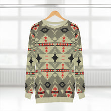 Load image into Gallery viewer, polyester blend all over print sweatshirt to match jordan 6 travis scott cactus jack olive beacon print v2