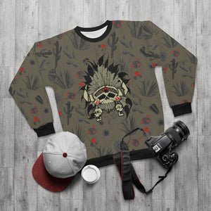 polyester blend all over print sweatshirt to match jordan 6 travis scott cactus jack olive cactus scene sole chief v1