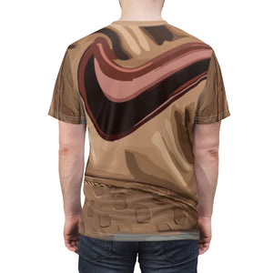 vachetta foamposite t shirt vachetta shirt match vachetta foamposite tee all over print cut sew macro pattern