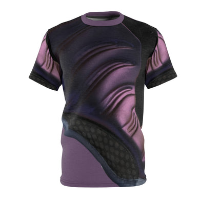 custom macro shoe eggplant foamposite shirt
