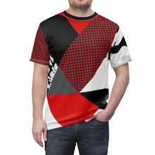 Load image into Gallery viewer, custom patchwork print fighterjet foamposite sneakermatch t shirt cut sew