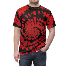 Load image into Gallery viewer, habanero red foamposite sneakermatch shirt tie dye print cut sew