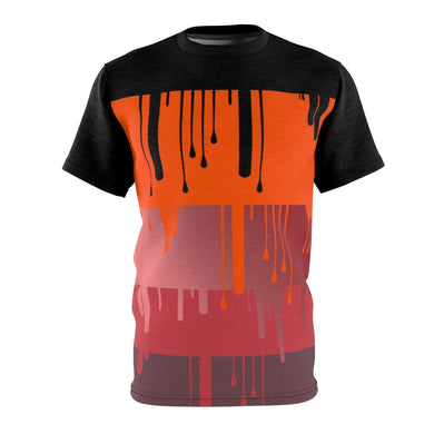 hyper crimson foamposite pro sneaker match t shirt cut sew dripping colorblock