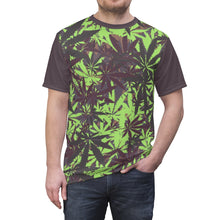 Load image into Gallery viewer, yeezy boost 700 mauve 420 marijuana cannabis pattern t shirt cut sew