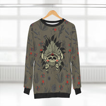 Load image into Gallery viewer, polyester blend all over print sweatshirt to match jordan 6 travis scott cactus jack olive cactus scene sole chief v1