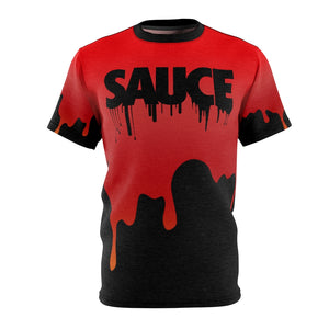 habanero red foamposite sneakermatch shirt drippin sauce