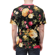 Load image into Gallery viewer, foamposite floral all over print sneaker match shirt floral foamposite shirt floral foam t shirt cut sew polyester v2b