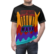 Load image into Gallery viewer, jordan 9 dream it do it sneaker match wavy colorblock drip too hard cut sew t shirt