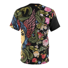 Load image into Gallery viewer, foamposite floral all over print sneaker match shirt floral foamposite shirt floral foam t shirt cut sew medusa tee v4