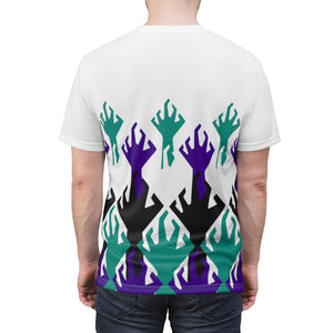 world war kickz jordan 5 grape all over print t shirt by gourmetkickz