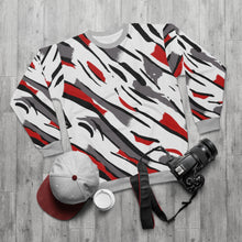 Load image into Gallery viewer, polyester blend all over print sweatshirt to match jordan 8 reflections of a champion midsole print