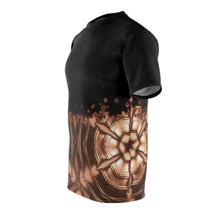 copper foamposite all over print shirt faded v4 by gourmetkickz