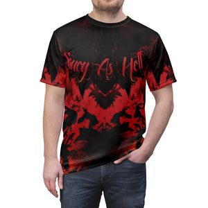 habanero red foamposite sneakermatch shirt v1